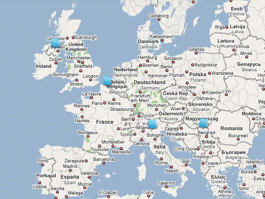 Four European contacts on 2nd Nov. 2008