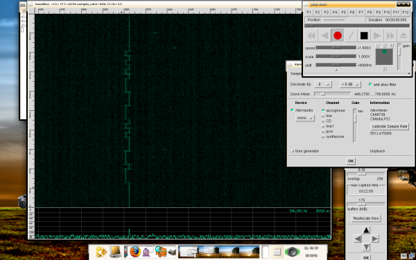 Baudline being used to show VE3VDM's 'VDM' QRSS signal