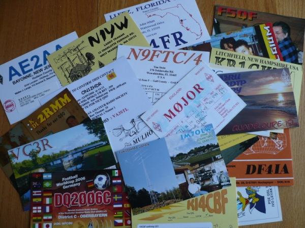 QSL cards from bureau