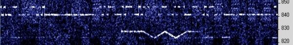 Captured by ON5SL 2239 UTC 10 Mar 2009