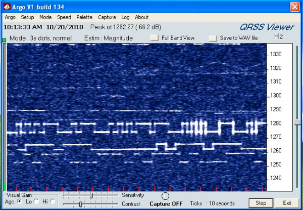 N8YE capture of QRSS signal from VA3STL