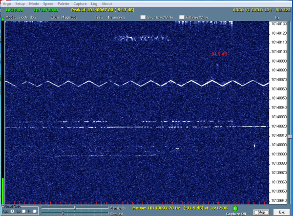 VE1VDM grabber at 1617UTC.  15th OCt 2010