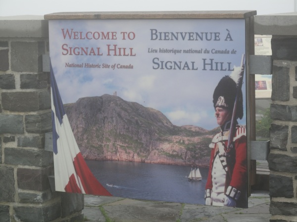 Welcome sign at Signal Hill